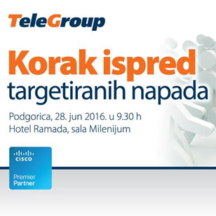 KOMPANIJA TELEGROUP ORANIZOVALA PRVU IT SECURITY RADIONICU U PODGORICI